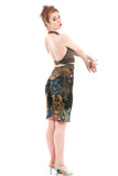 ruched underwater tapestry skirt