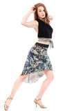 sequined serpent fluted skirt