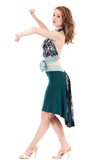 the signature skirt in blue emerald and nightfeather