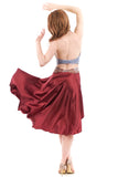 the signature skirt in dusky rose