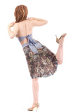 dry lake tapestry fluted skirt