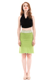 acid cactus ruched skirt