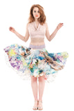 digital iris circle skirt