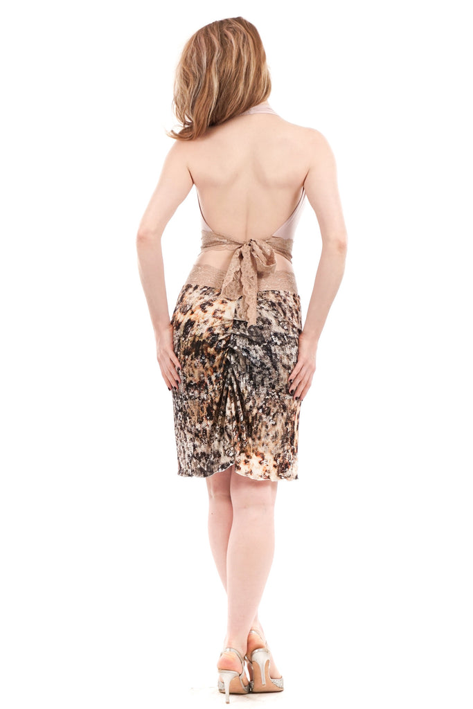 silver serpent ruched skirt