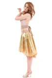 gold leaf layer skirt