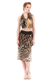 land peacock fluted skirt