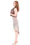 silver dove fluted bamboo skirt