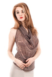 dove brass draped top