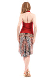 desert sketch fluted skirt