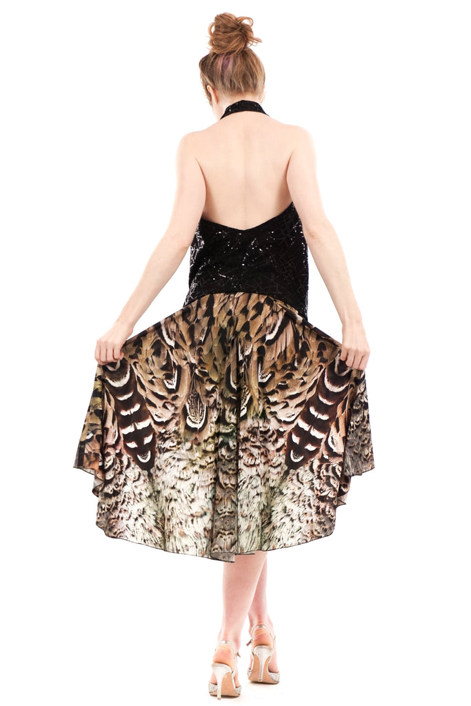 the signature skirt in land peacock