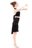 black diamond fluted skirt