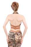 gold water moccasin wrap top