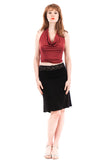 black bamboo fluted skirt
