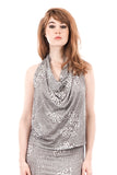 winter pebble draped top