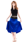 the signature skirt in cobalt