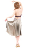 the signature skirt in feather gold