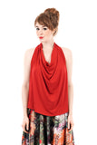 poinsettia draped halter