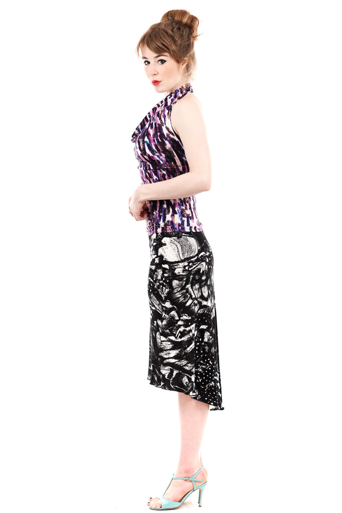night moth fluted skirt