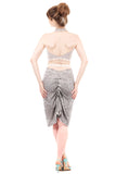 winter pebble ruched skirt