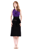 silhouette ruched skirt