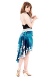 the signature skirt in blue magnolia