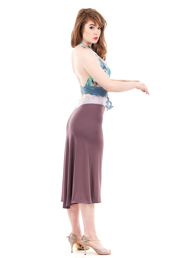 ashes of lavender fluted skirt
