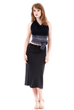 soft charcoal ruched skirt