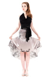 the signature skirt in grayscale peony