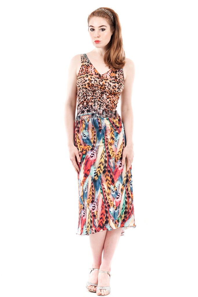 rainbow menagerie dress