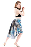 the signature skirt in cornflower galaxy