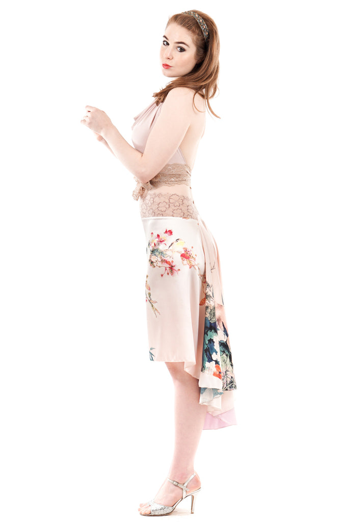 the signature skirt in plum blossom