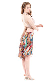 rainbow menagerie short skirt