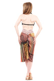 tapestry carpet ruched skirt