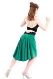 the signature skirt in jade crepe