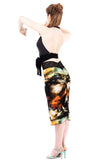 galactic ruched skirt