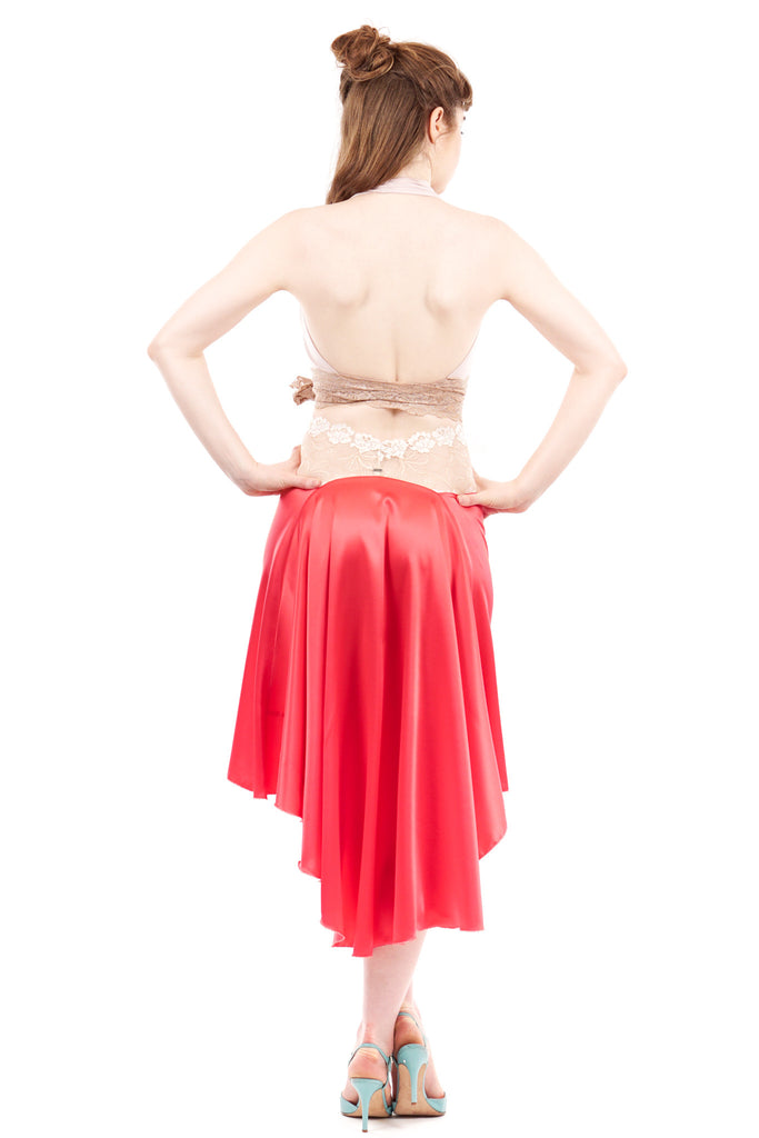 the signature skirt in luminous azalea