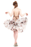 apple blossom circle skirt