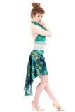 the signature skirt in painted oleander