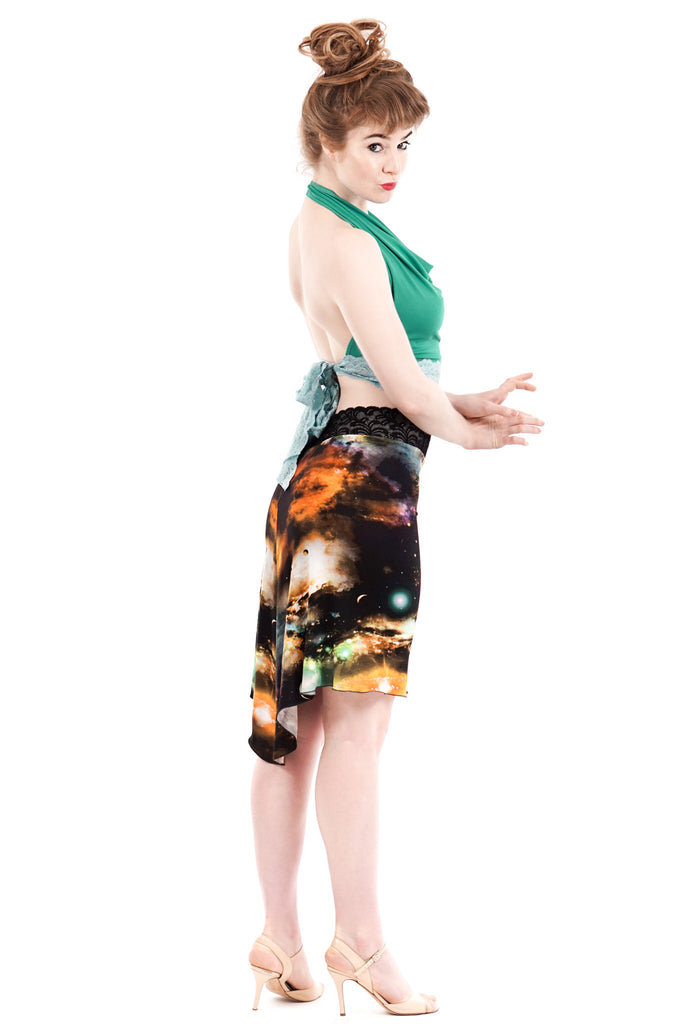 galactic fluted skirt