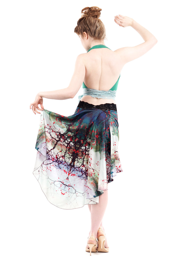 the signature skirt in ink forest