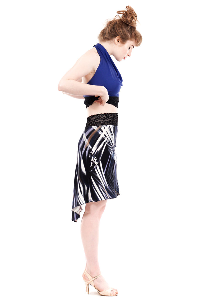 shadow dapple fluted skirt