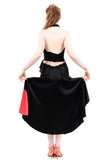 the signature skirt in black and flash