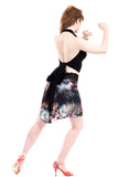 nightfeather fluted short skirt
