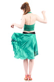 the signature skirt in jade charmeuse