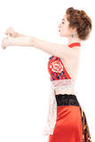 red porcelain wrap top