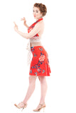 red porcelain fluted skirt