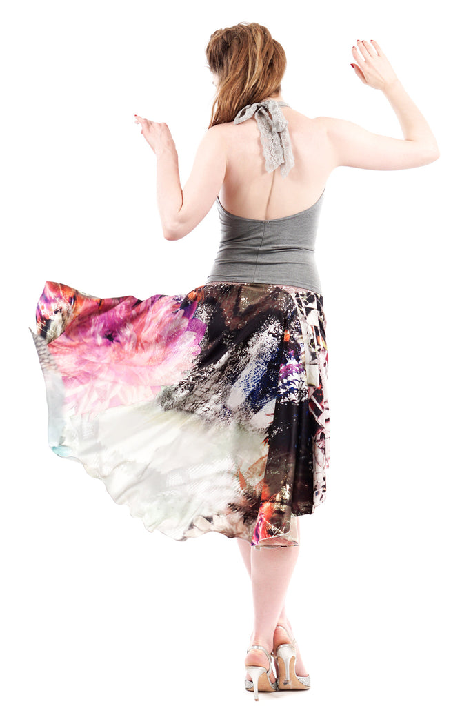 the signature skirt in glasswing & glade prism