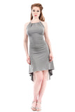 grey marl and lotus dress