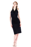 night navy ruched dress