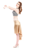 the signature skirt in milky gold